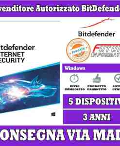 Bitdefender internet security 5 pc 3 anni