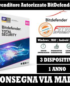 Bitdefender Total security 3 pc 1 anno