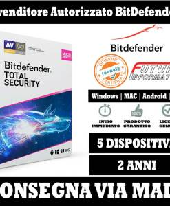 Bitdefender Total security 5 pc 2 Anni