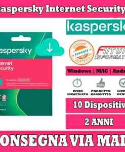 Kaspersky Internet Security 10 computer 2 Anni