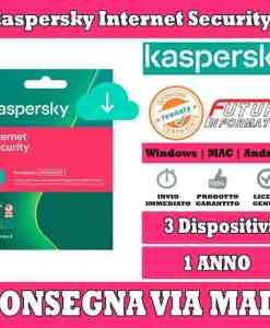 Kaspersky Internet Security 1 computer 3 Anno