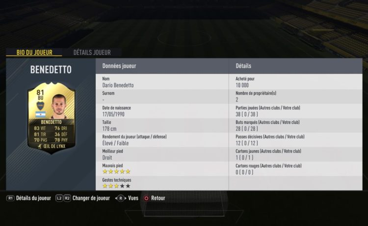 player review benedetto IF