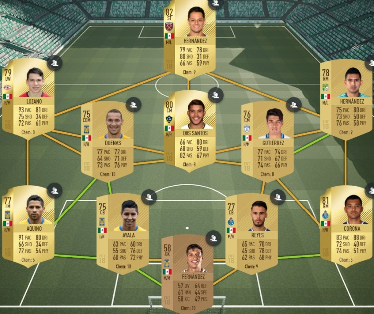 fut 18 solution dce mexique