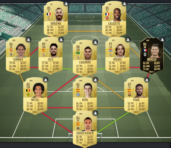 FUT 19 - Solution DCE Clarence Seedorf - Equipe notee a 87