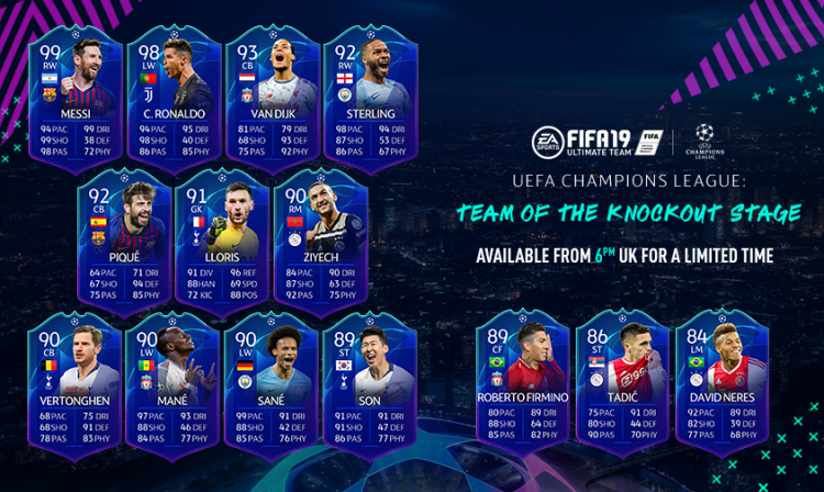fut19 team of knockout stage