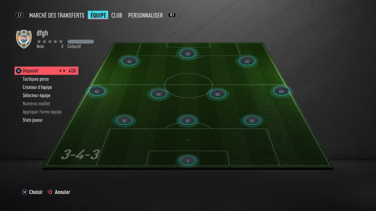 fut 20 guide des formations 3-4-3