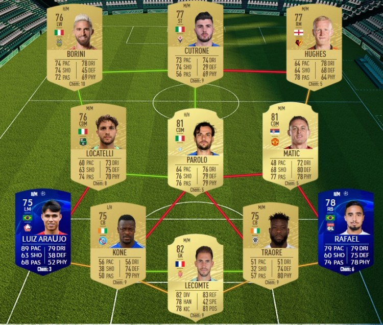 fut 20 solution dce manchester united barcelone