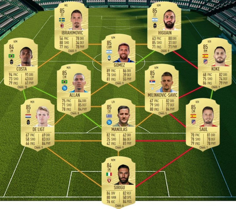 fut 20 solution dce marcos alonso flashback normal