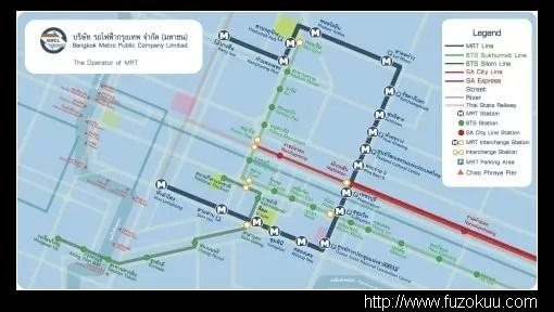 風俗指南泰國篇_基礎知識_交通_Bangkok MRTMap
