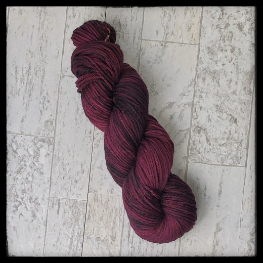 Black cherry rose skein