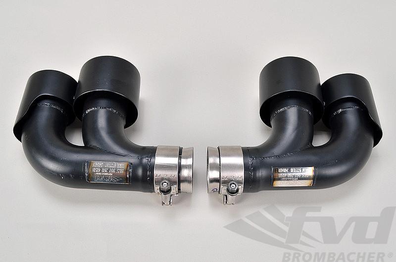 exhaust tips 997 2 tt brombacher 4 x