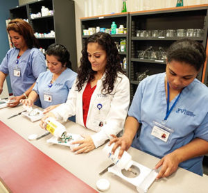 pharmacy techs in action