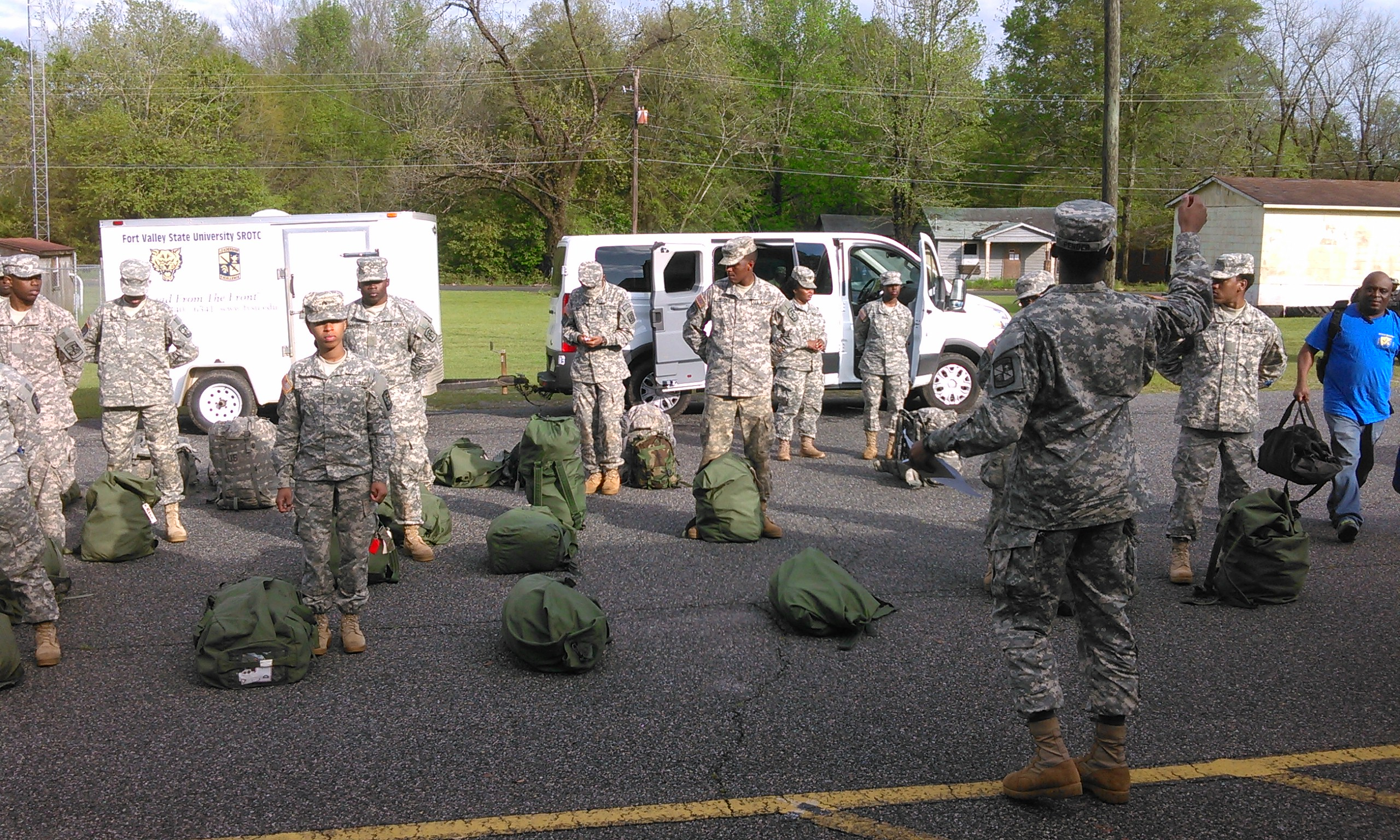 ROTC students get ready to deploy
