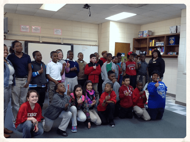 FVSU researchers perform DNA extraction demonstration for young students