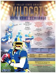 Wildcat Football Schedule 2016