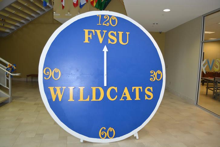 Clock display at 120th Anniversary Student Breakfast