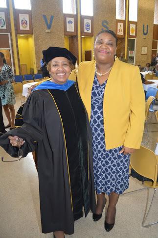 Interim president Dr. Jessica Bailey and Director of Marketing Pamela Berry Johnson