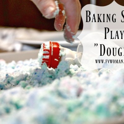 "Baking Soda Play ""Dough"" for Sensory Play and Science Fun!"