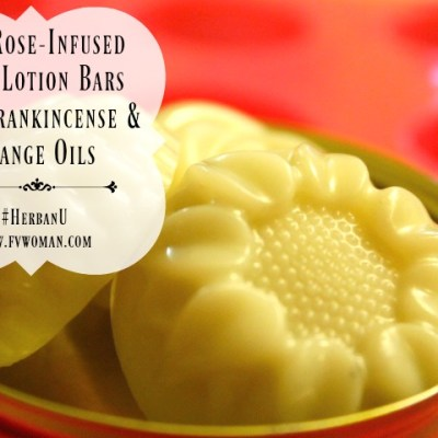 DIY Mini Rose-Infused Lotion Bars with Frankincense and Sweet Orange Oils