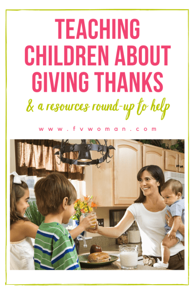 Teaching children about giving thanks