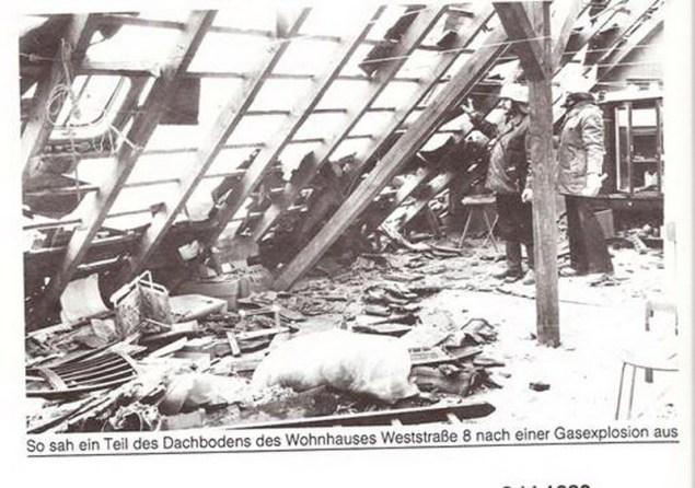 Aussehen nach einer Gasexplosion