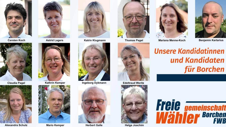 kandidatinnen der freien wählergemeinschaft borchen zur Kommunalwahl 2020