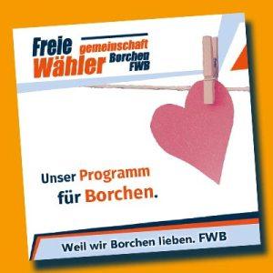 Link zum neuen Programm FWB Freie WählergemeinschaftBorchen