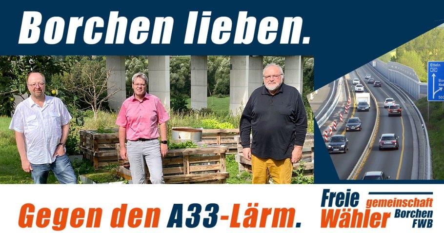 FWB kämpft gegen Autobahnlärm Borchen
