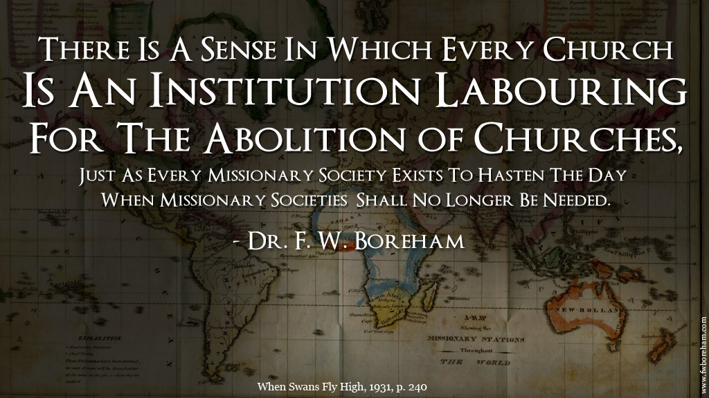 Churches Working For The Abolition of Churches by F.W. Boreham