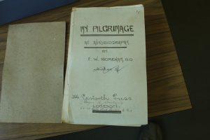 F. W. Boreham's personal copy of his autobiography manuscript, Scots, Melbourne