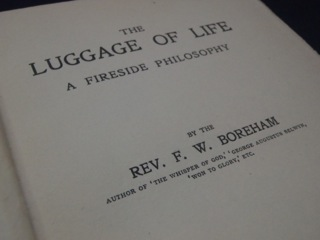 Frontice page of FWB's THE LUGGAGE OF LIFE