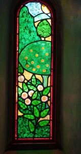 Creation 2a stained glass window