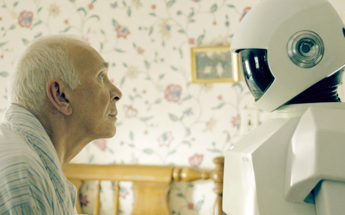 Image result for robot and old men