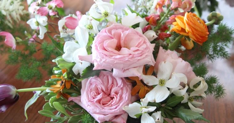 Creating a Spring Floral Arrangement