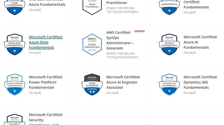 [学習] マイクロソフト認定資格 MCP を 4ヶ月間で8種類合格。