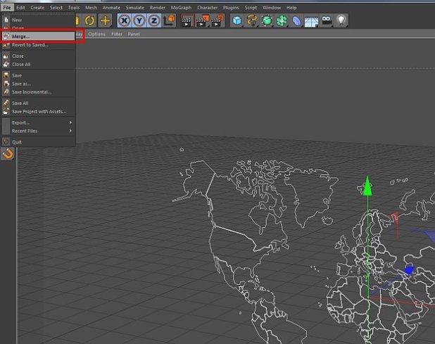 How to create a Globe/3d world in Cinema 4D? | Fxfx net ::: Digital
