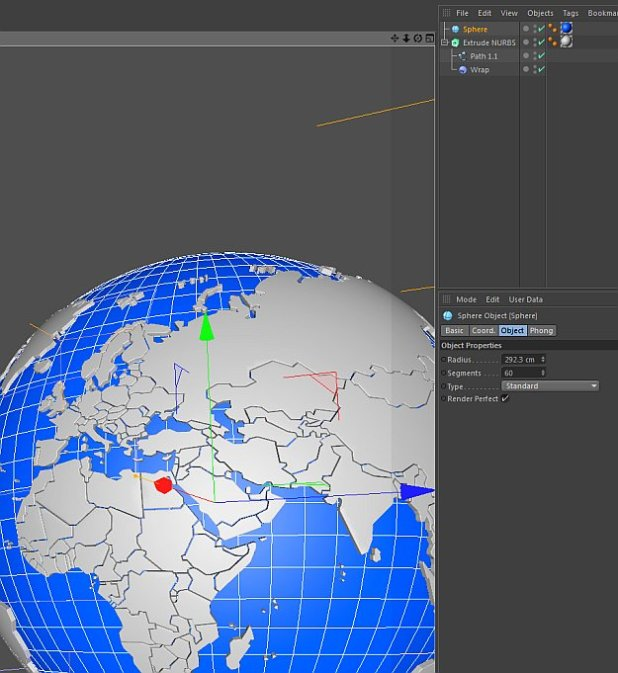 How to create a Globe/3d world in Cinema 4D? | Fxfx net