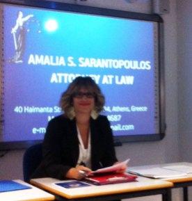 Amalia Sarantopoulos (Greece Lawyer)