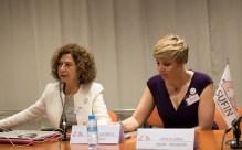 María Victoria Zunzunegui, Finsalud researcher with Patricia Suárez, president of ASUFIN