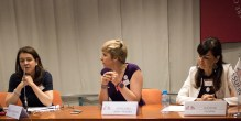 From left to right: Polish lawyer Beata Komarnicka Nowak, Patricia Suárez and Franca Berno, president of Tuconfin