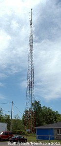 The WWLF-FM tower, summer 2011