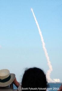 STS 133 bursts skyward