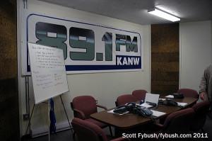 KANW's pledge room...