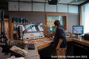 KKOB's control room