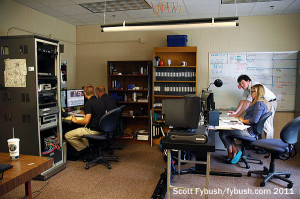 The WFIU/WTIU newsroom