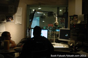 WBZ-FM's control room...