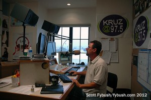 The KRUZ 97.5 studio
