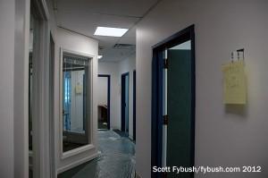 Hallway at the new studios