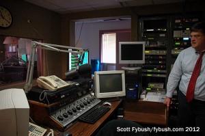 Inside WCVL's studio