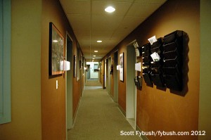 The Emmis studio hallway